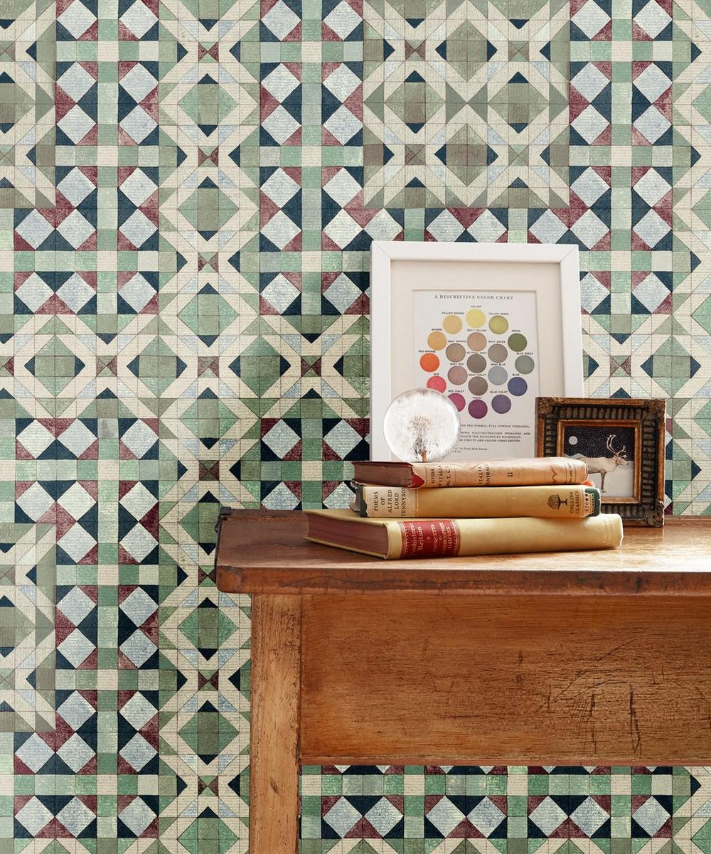 Simon Wallpaper in Monticello Green