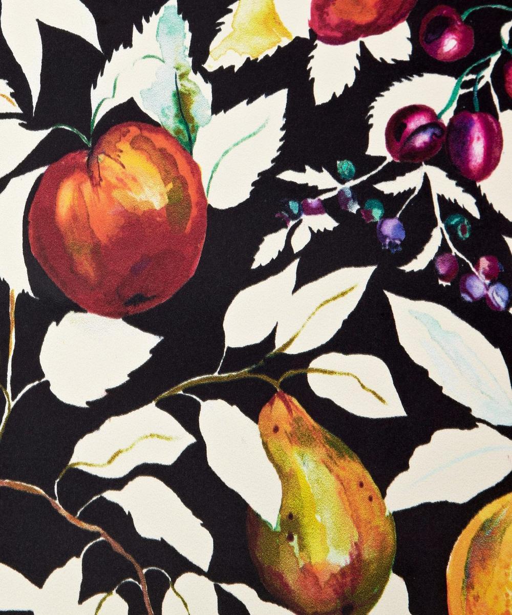 Fruit Billett Wallpaper in Banquet Black