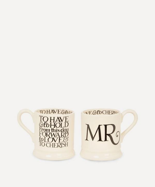 Mr. and Mr. Half Pint Mugs Set of Two