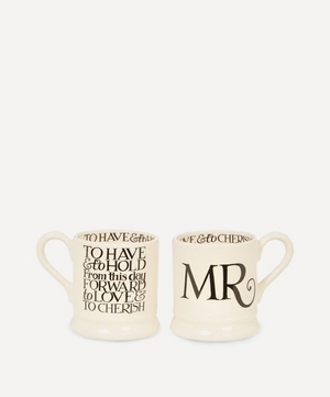Mr. and Mr. Half Pint Mugs Set of Two