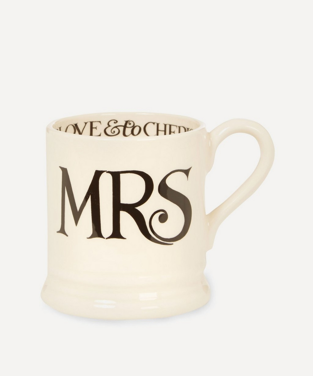 Mrs and Mrs Half Pint Mugs