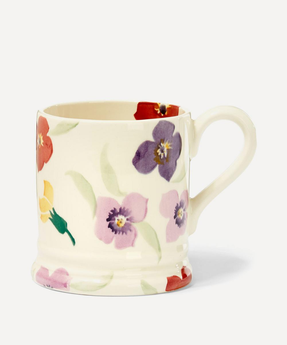Wallflower Earthenware Half Pint Mug