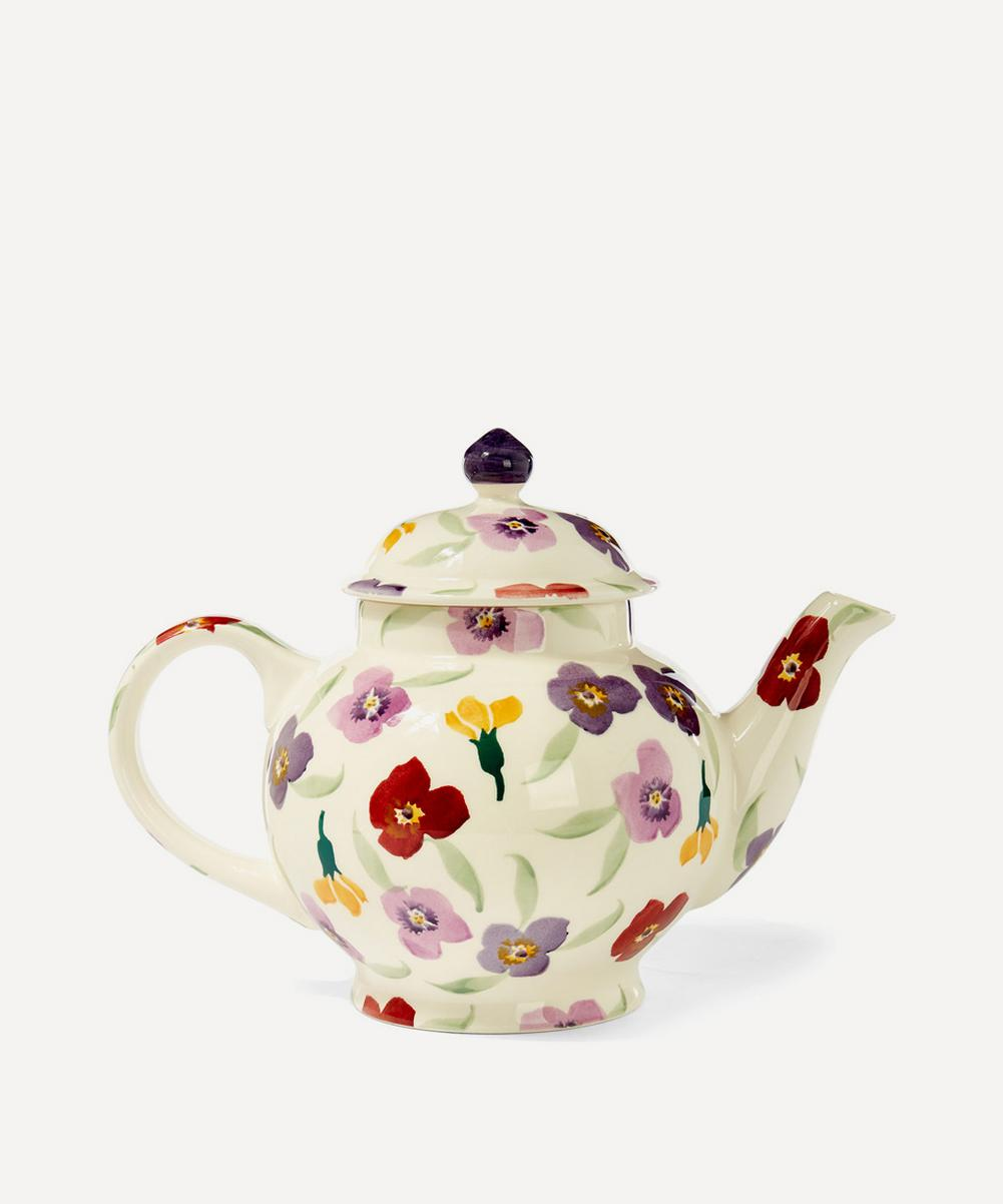 Wallflower Earthenware Four Cup Teapot