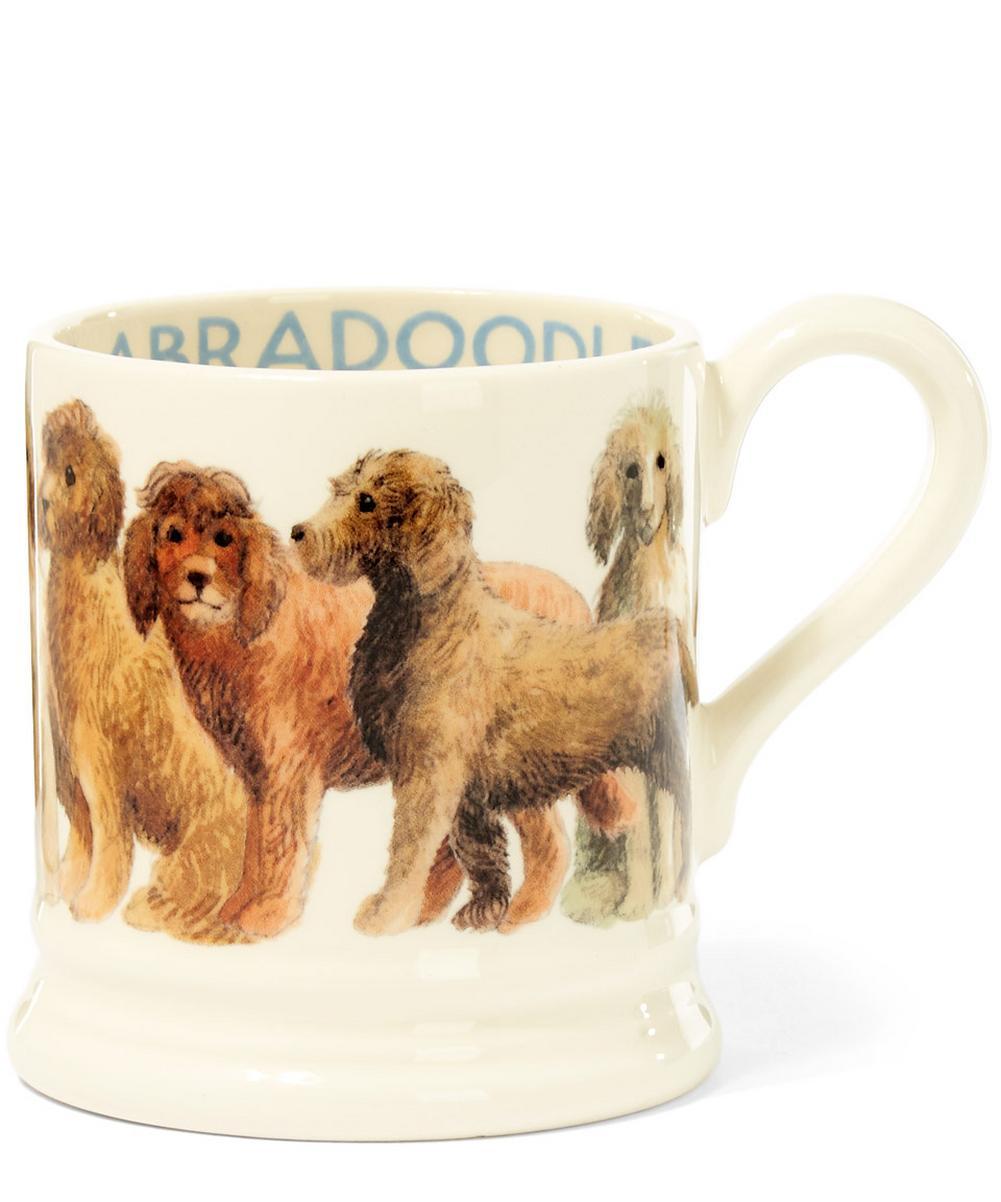 Labradoodle Earthenware Half Pint Mug