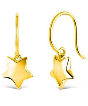 Gold-Plated Bijou Star Drop Earrings