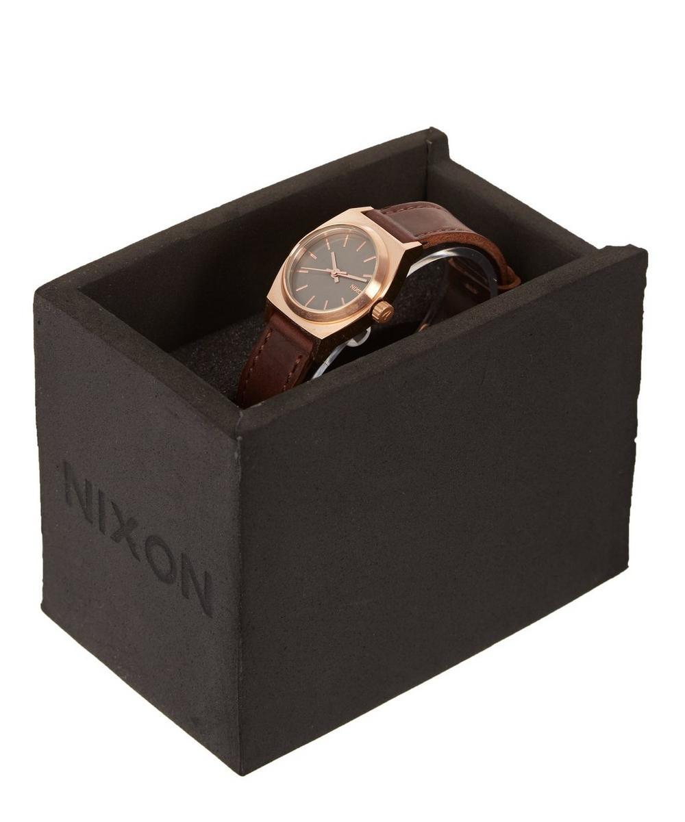 Small Time Teller Gunmetal Dial Watch