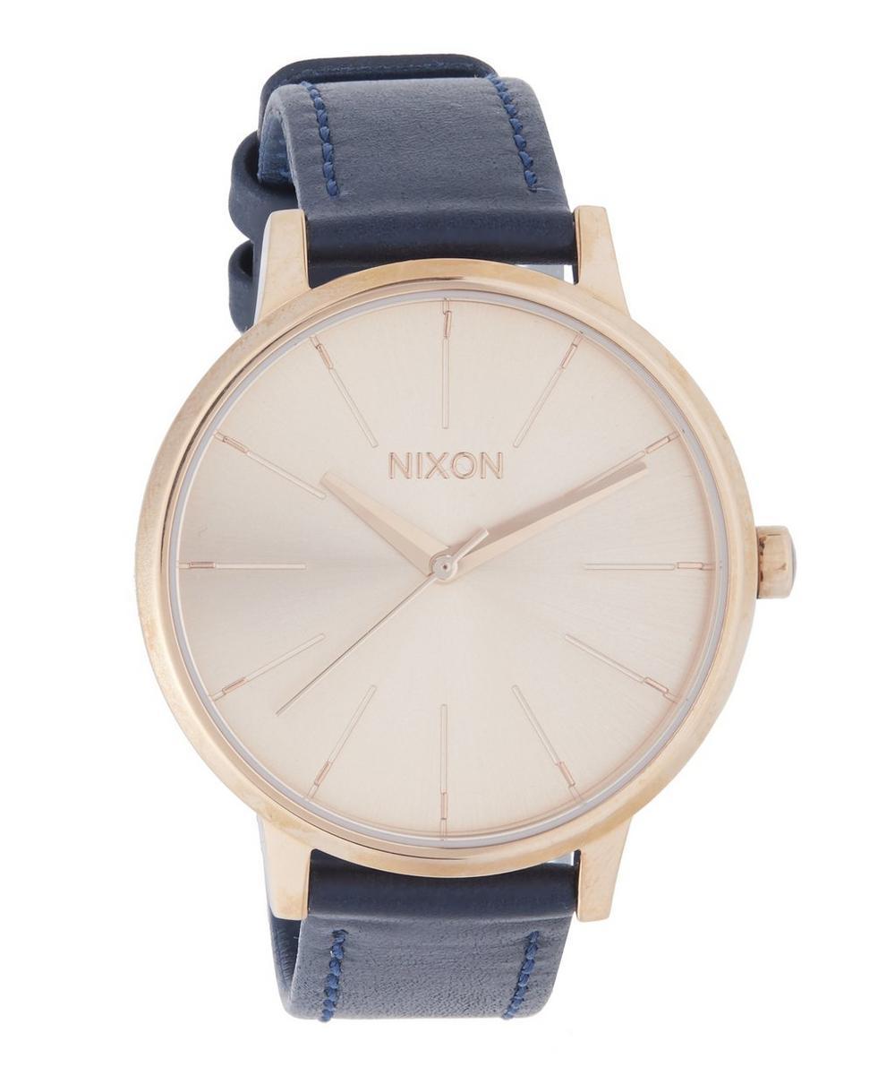Nixon - Leather Strap Kensington Watch