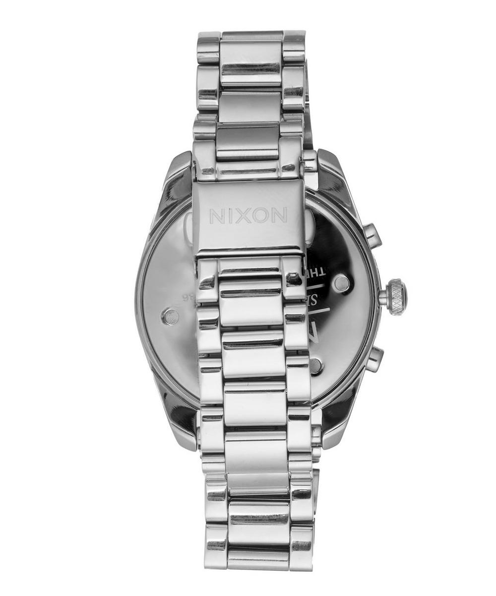 Silver-Tone Bullet Chrono Watch