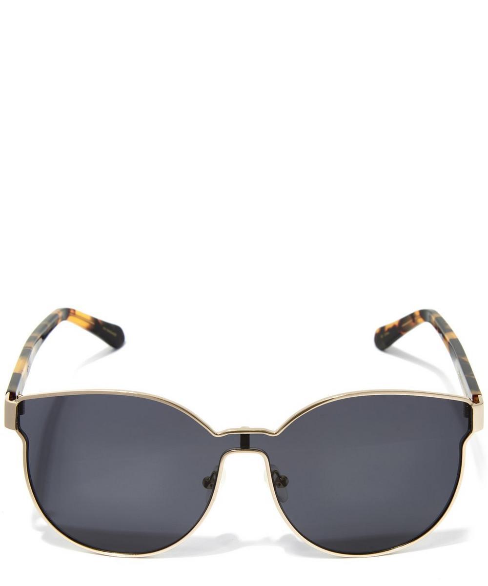 40b3353a2c634 Karen Walker Havana Star Sailor Sunglasses In Gold