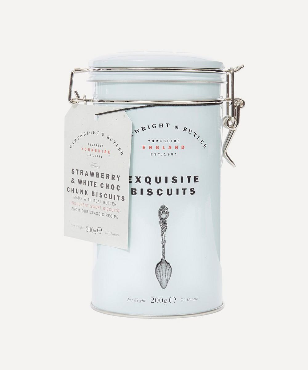 Cartwright & Butler Exquisite Strawberry And White Chocolate Chunk Biscuits 200G