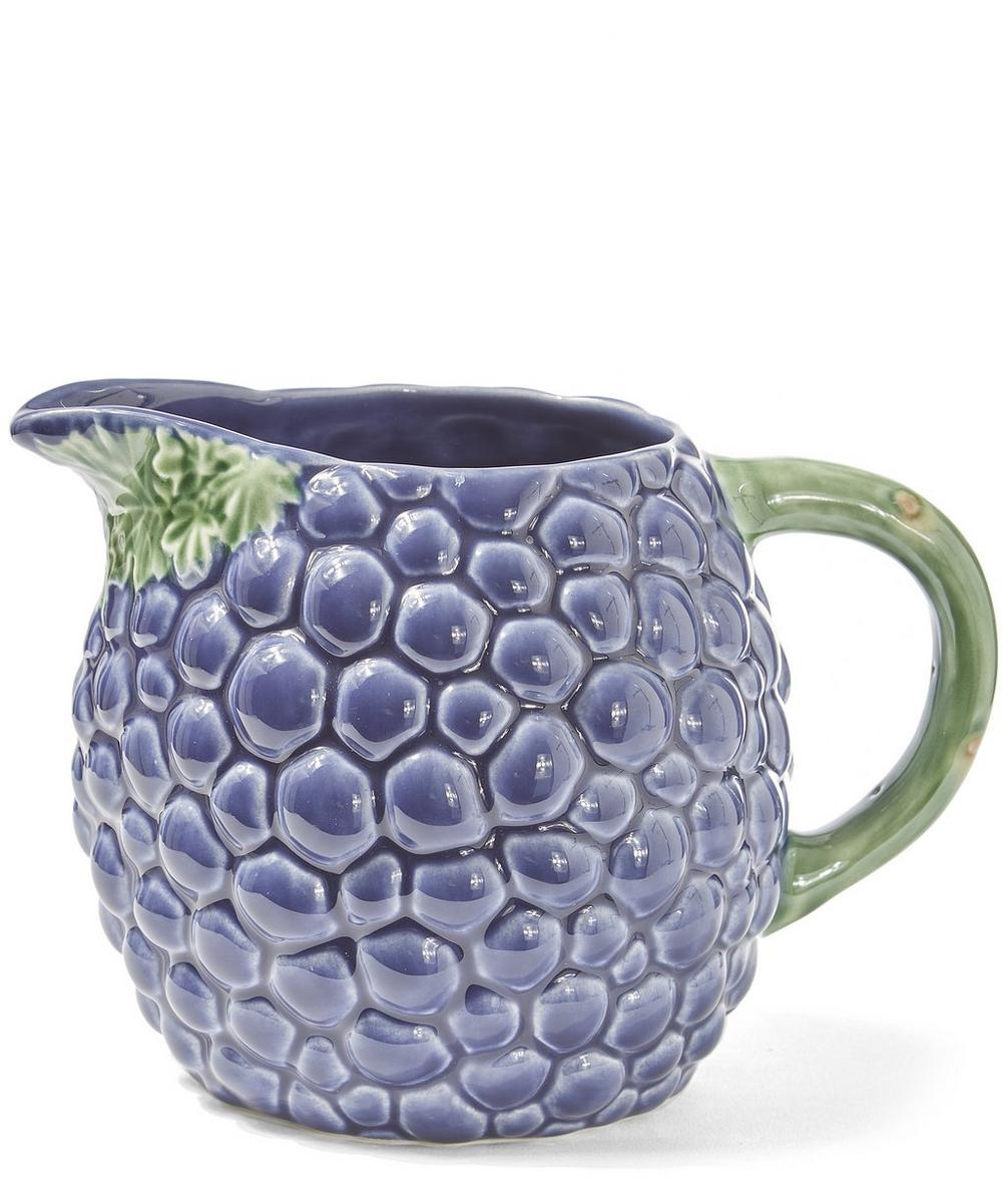 Grapes Earthenwear Pitcher