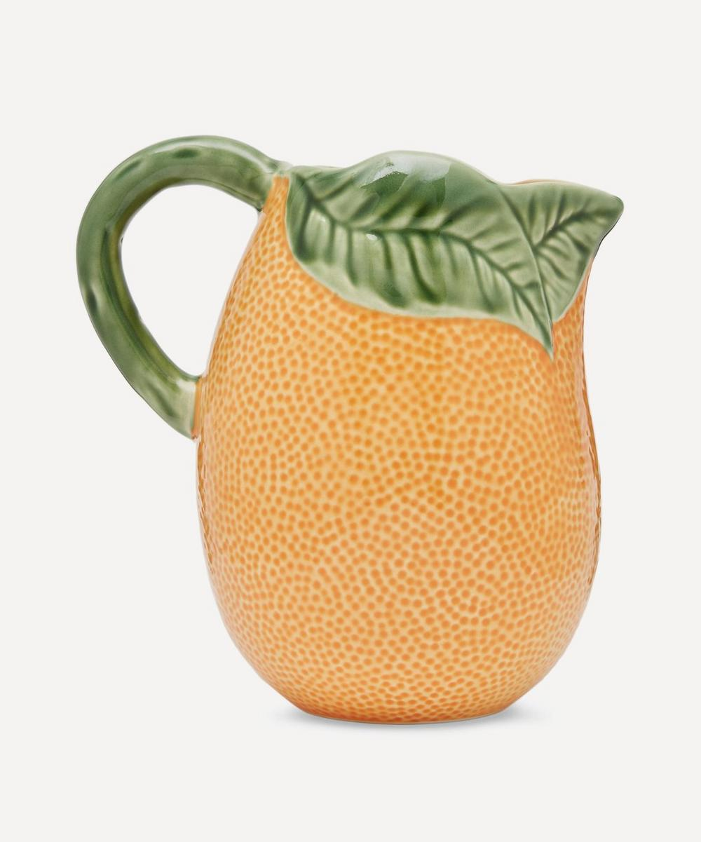 Orange Earthenware Pitcher