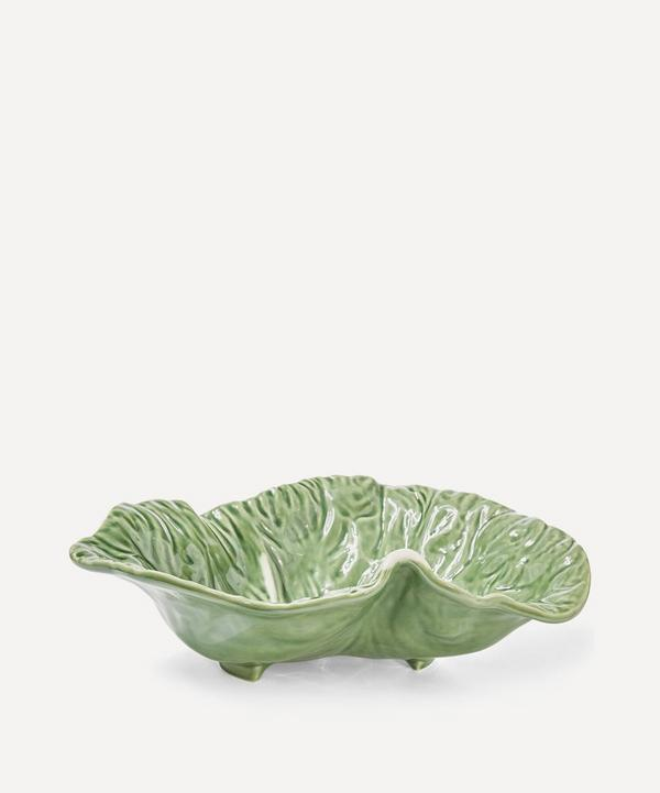 Cabbage Leaf Earthenware Crooked Bowl