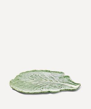 Large Cabbage Leaf Earthenware Flat Plate