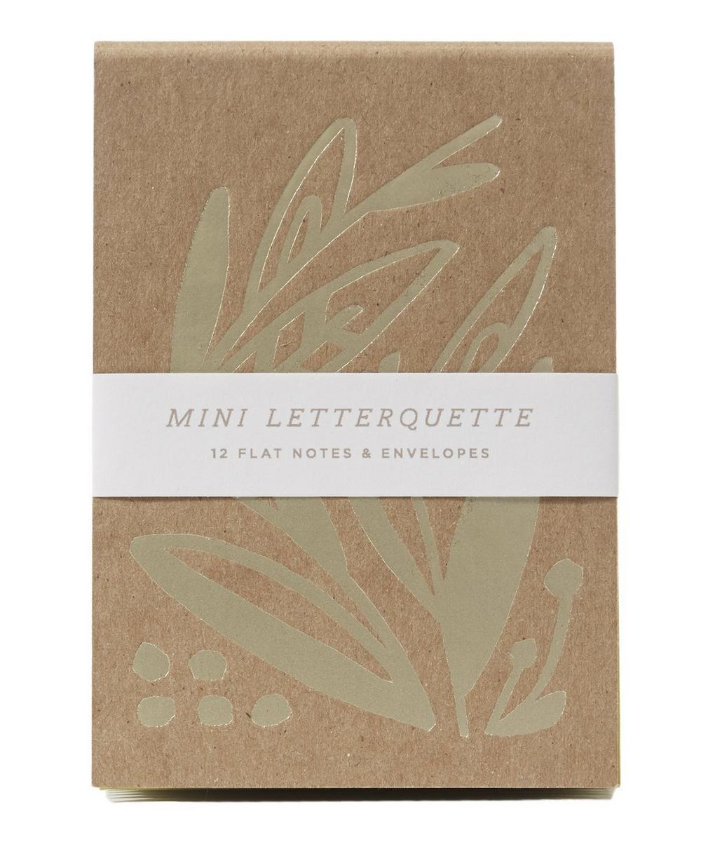 Gold-Tone Calathea Mini Letterquette