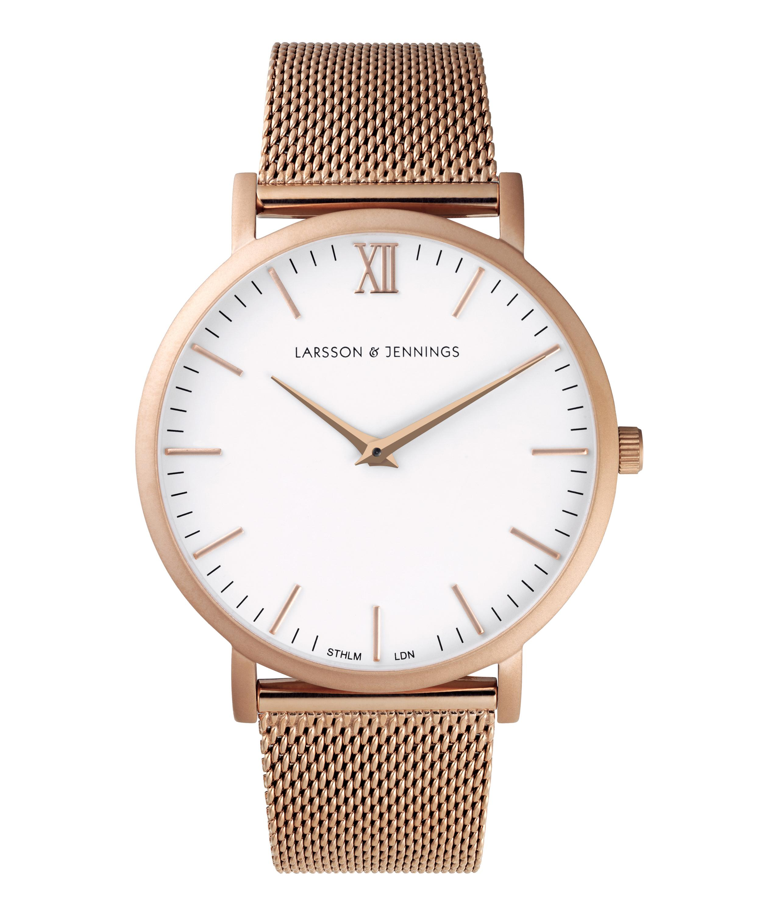 3fd891d3e847 Lugano 40mm Rose Gold-White Milanese Watch