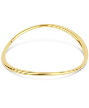 Gold-Plated Wave Bangle