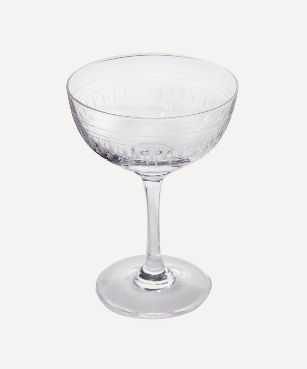 Oval Champagne Coupes Set of Six