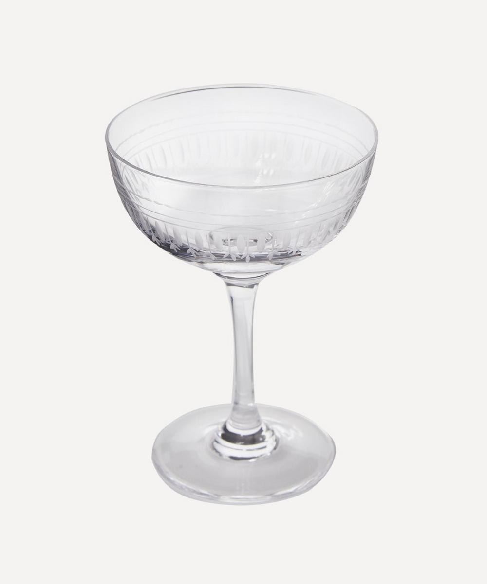 Set of Six Oval Champagne Coupes