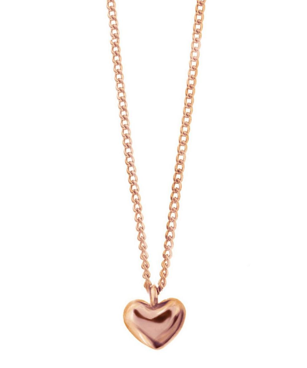 Rose Gold-Plated Bijou Heart Pendant