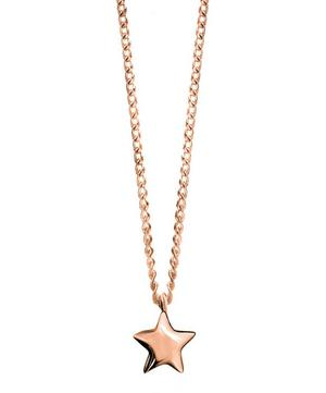 Rose Gold-Plated Bijou Star Pendant Necklace