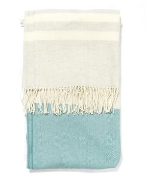 Teal Eloise Lambswool Throw