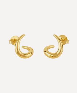 Small Gold-Plated Toro Twist Stud Earrings