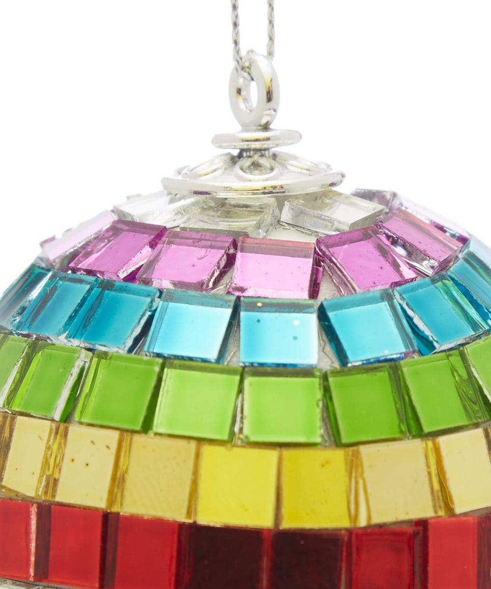 Rainbow Mirror Ball Decoration