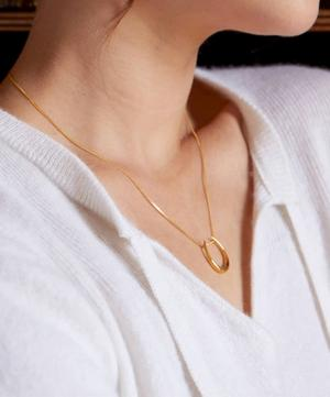 Gold-Plated Toro Slider Pendant Necklace