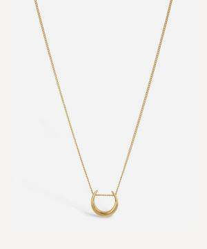 Small Gold-Plated Toro Slider Pendant Necklace