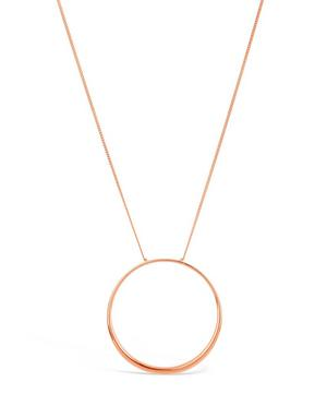 Rose Gold-Plated Signature Hoop Pendant Necklace