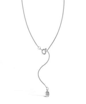 Silver Signature Halo Pendant Necklace