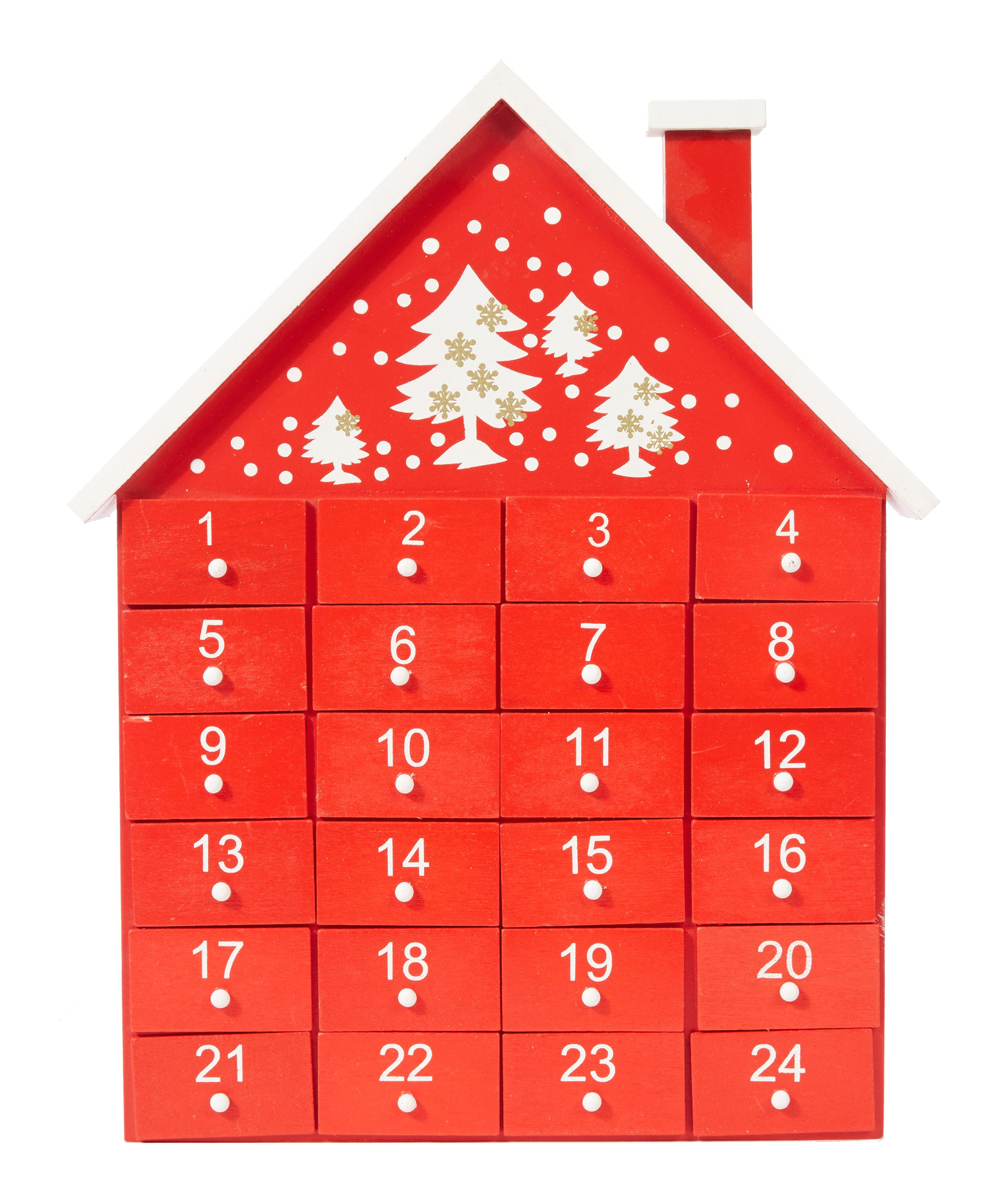 Christmas Advent House.Wooden Advent House