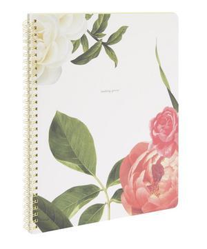 Large Floral Spiral Notebook
