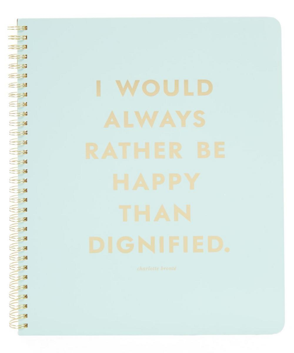 Large Be Happy Spiral Notebook