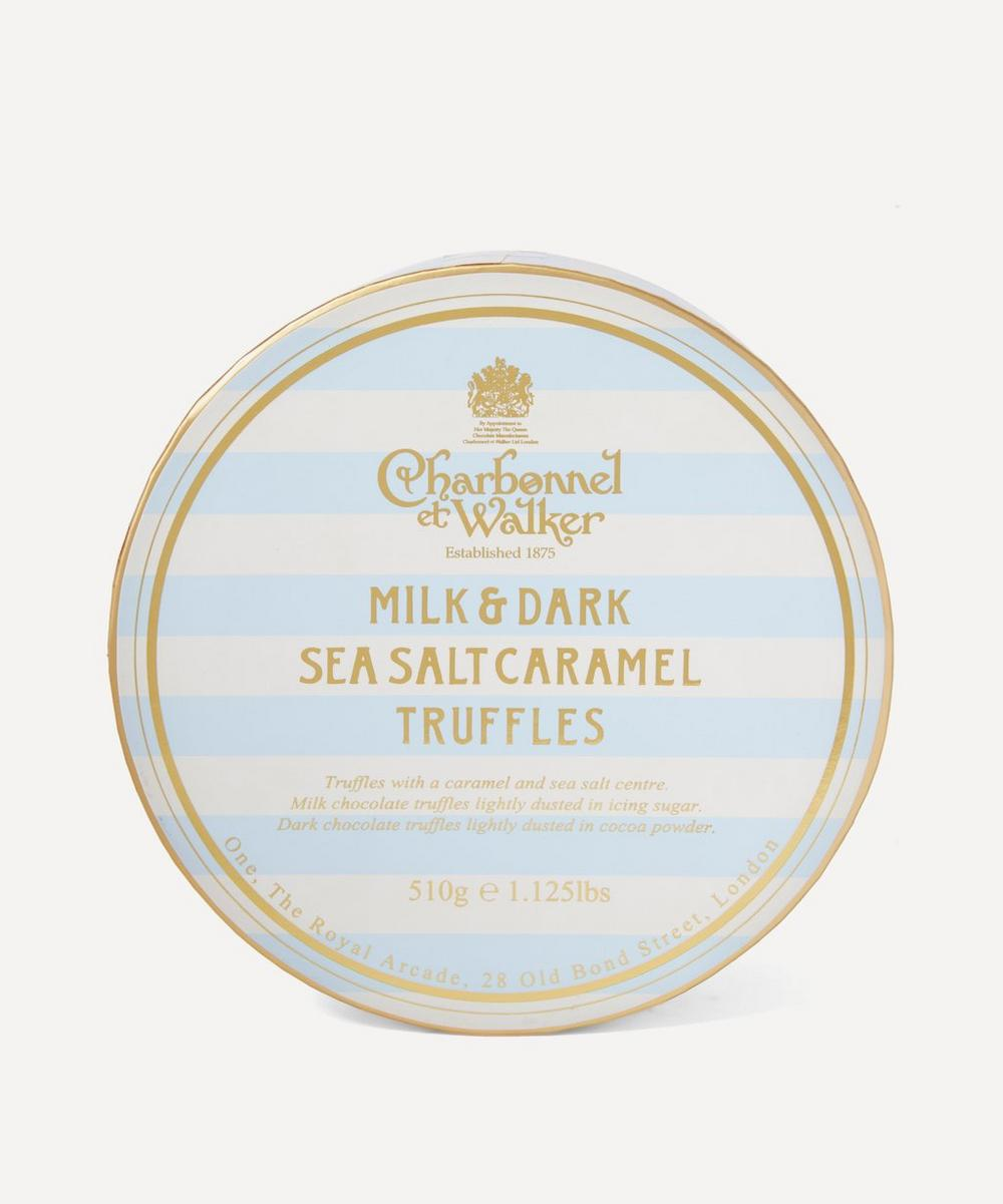 Charbonnel et Walker - Milk and Dark Sea Salt Caramel Truffles Large Collection 510g