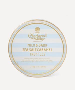 Milk and Dark Sea Salt Caramel Truffles Large Collection 510g