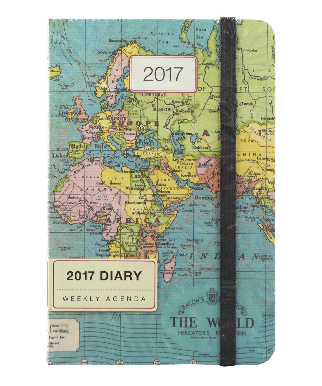 Cavallini Vintage Maps 2017 Weekly Planner Liberty London