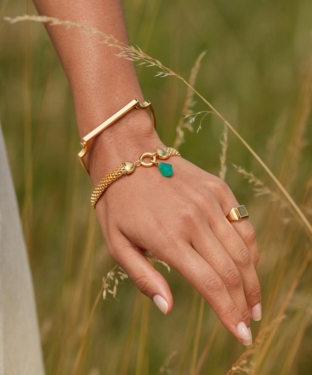 Gold-Plated Signature Thin Bangle