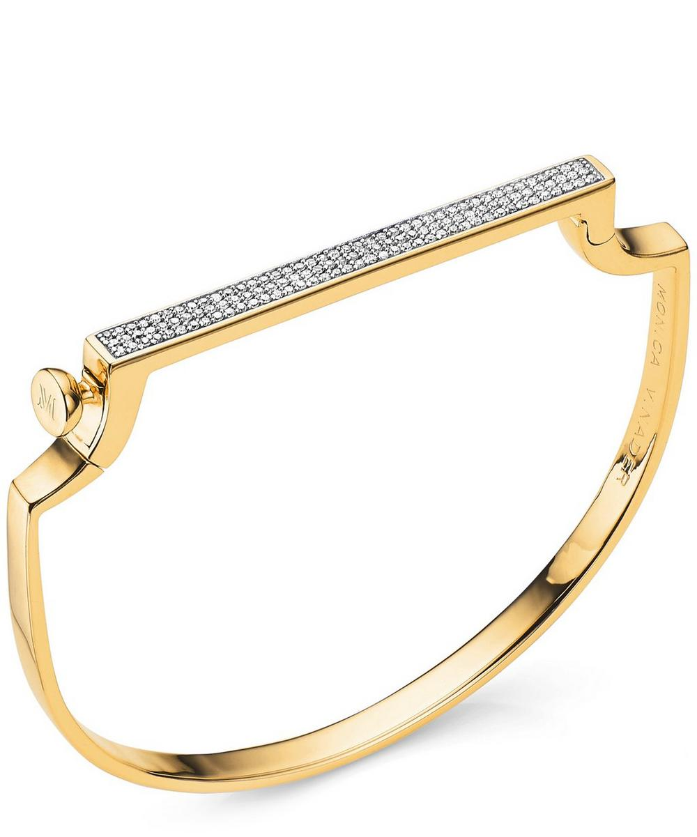 Gold-Plated Signature Thin Diamond Bangle