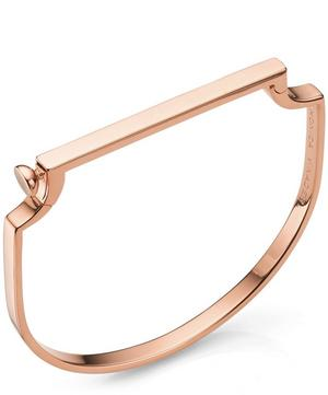Rose Gold Vermeil Signature Thin Bangle