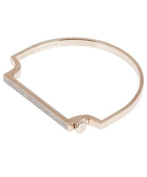 Rose Gold Vermeil Signature Thin Diamond Bangle