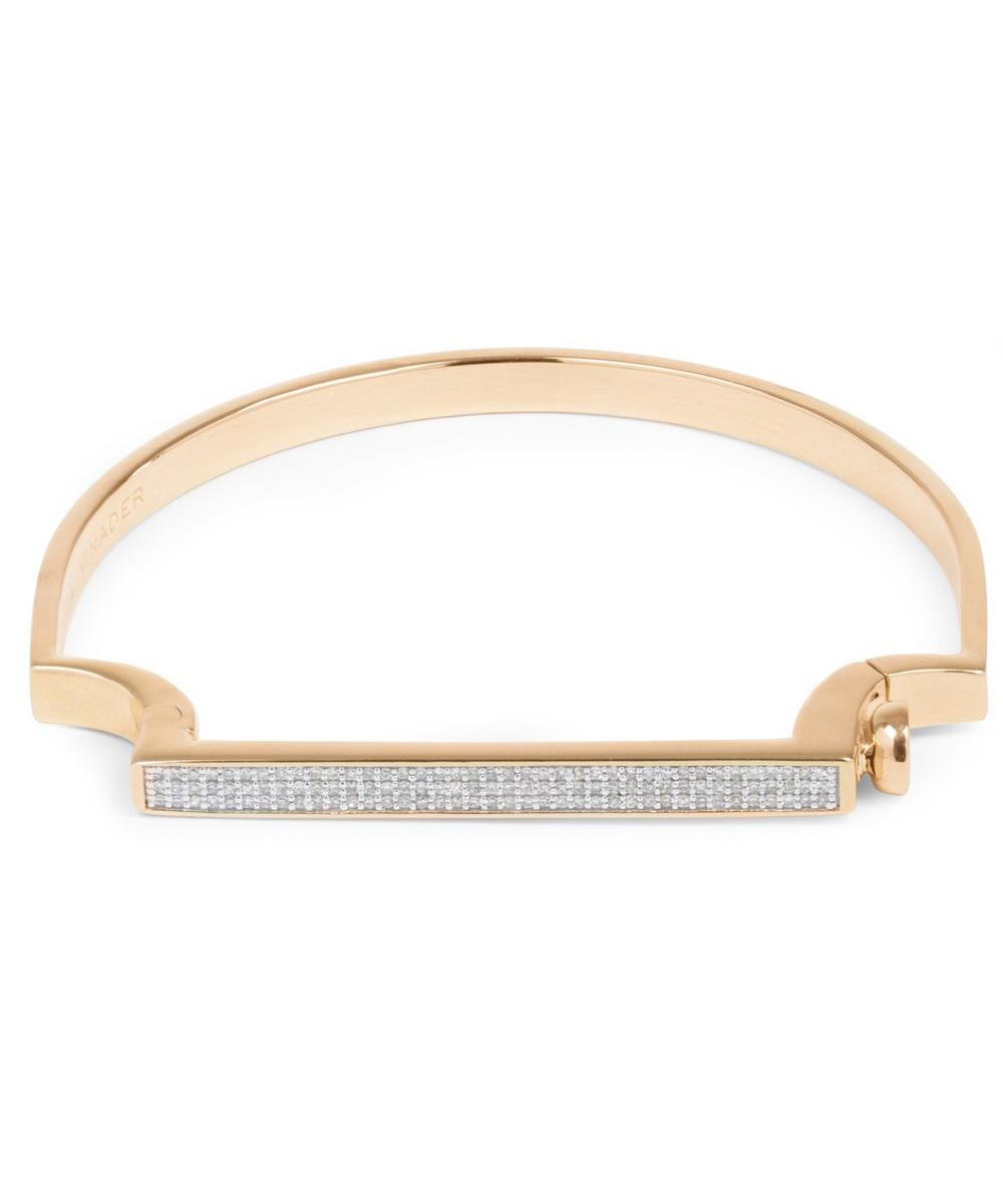 Rose Gold Vermeil Signature Petite Thin Diamond Bangle