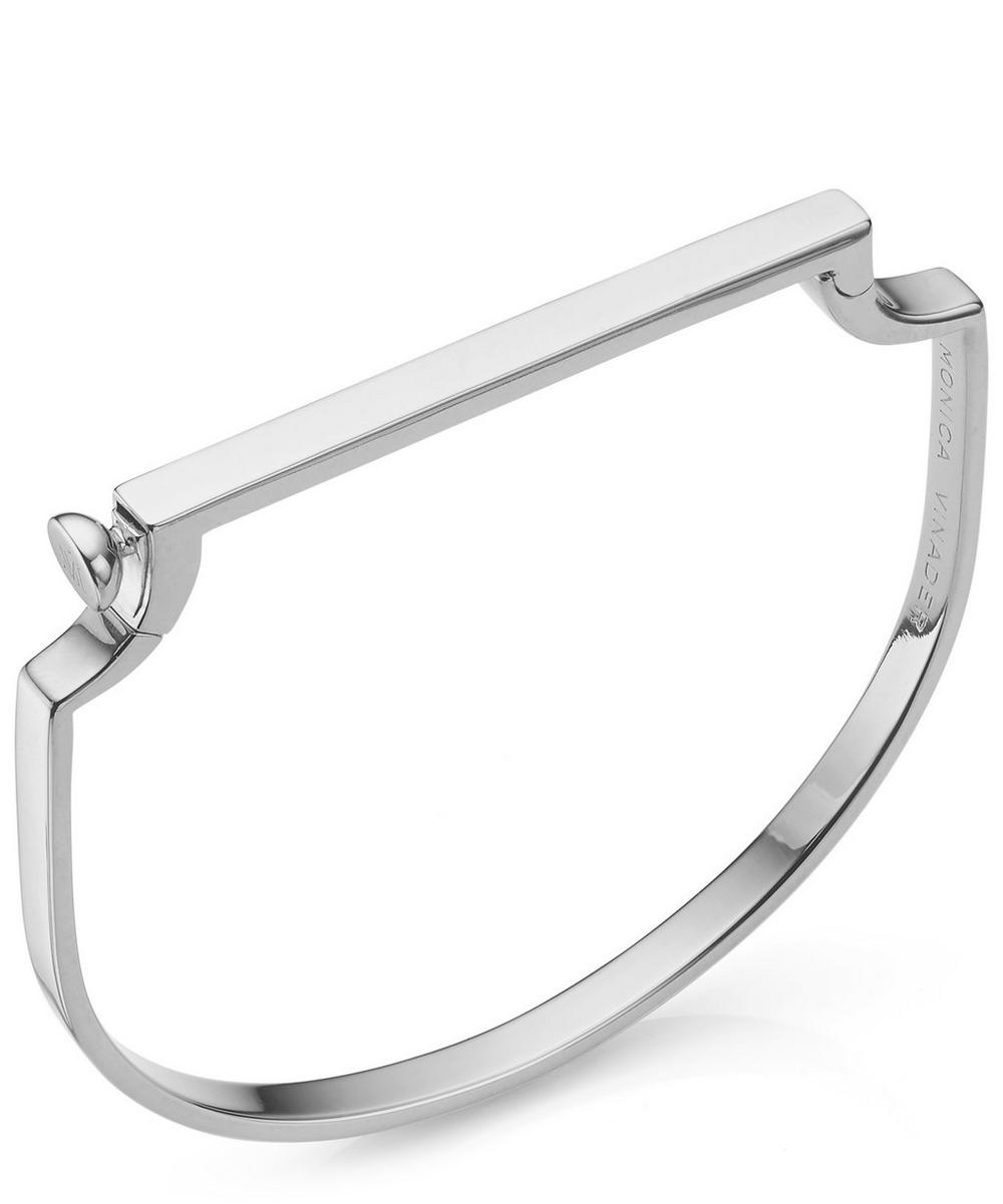Silver Signature Thin Bangle
