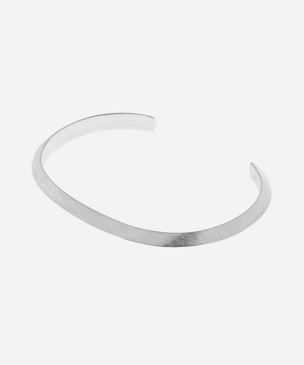 Silver Brushed and Polished Triangle Bracelet