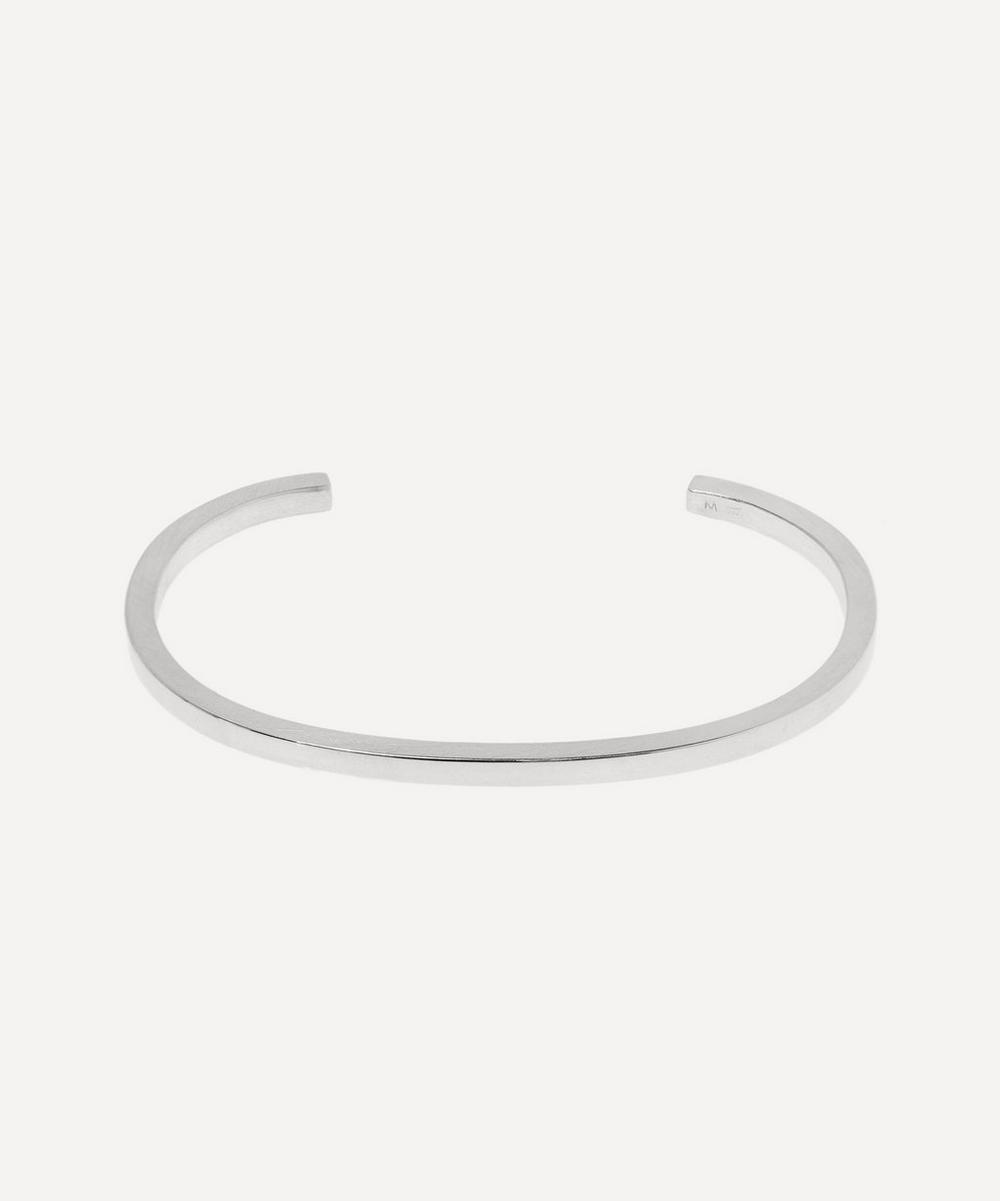 Square Brushed 925 Silver Bracelet