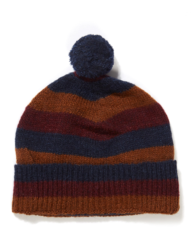 Striped Wool Blend Bobble Hat  ff3e78dfc4b