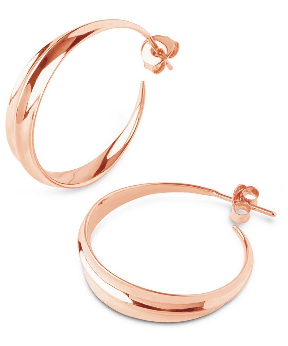 Medium Rose Gold-Plated Lotus Hoops