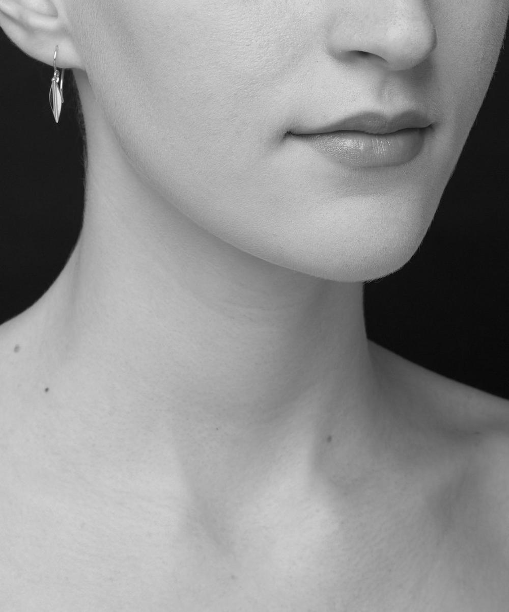 Small Rose Gold-Plated Lotus Petal Drop Earrings