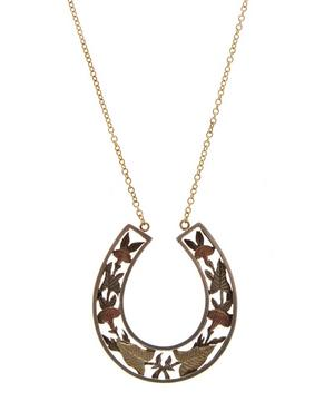 Silver and Gold Horseshoe Necklace